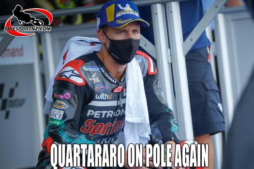 Fabio Quartararo on MotoGP pole again