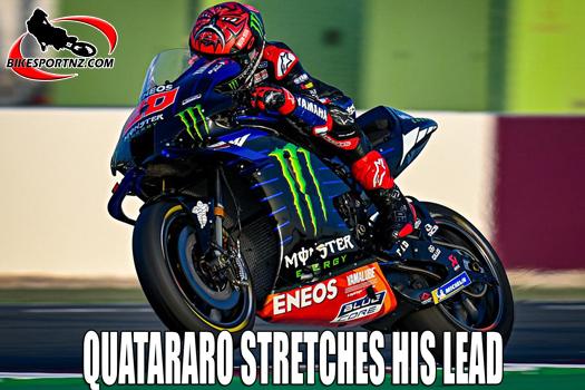 Fabio Quatararo stretches his points lead at Mugello