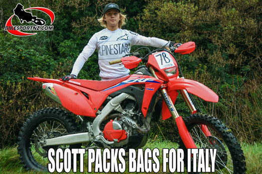 James Scott packing his bags for Italy
