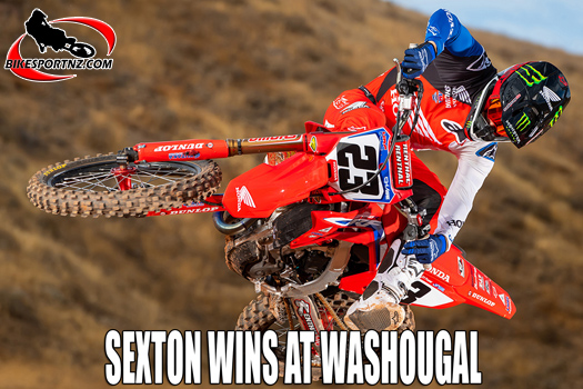 Chase Sexton breaks through for victory at Washougal