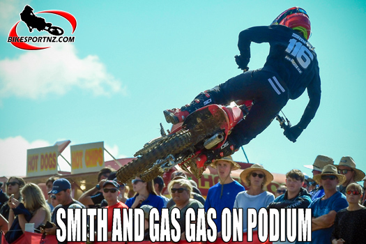 Smith and Gas Gas on the Woodville podium