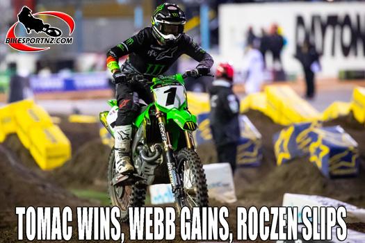 Tomac wins, Webb gains, Roczen slips