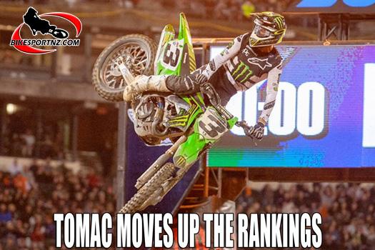 Eli Tomac moves up US supercross rankings