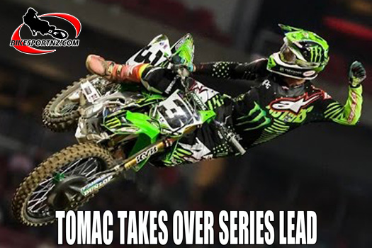 Tomac takes over supercross series lead