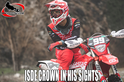 Andrea Verona is looking to secure world trophy at ISDE