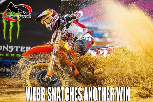 Cooper Webb makes it three SX wins in a row