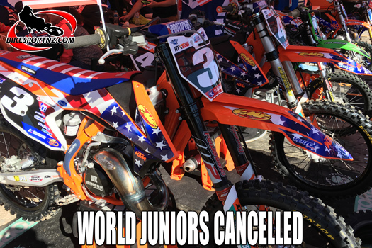 World Junior MX Champs in Greece cancelled